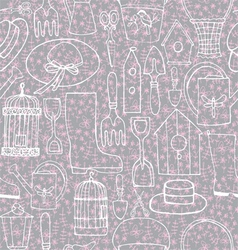 Spring seamless pattern vector