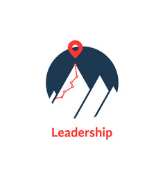 Summit icon like leadership logo isolated on white vector