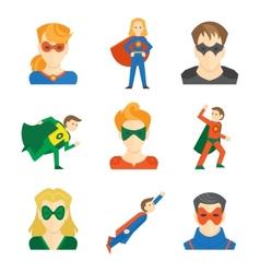 Superhero icon flat vector image vector image