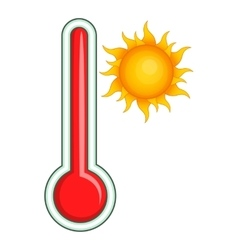Thermometer icon cartoon style vector image