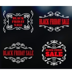 vintage badges for black friday sale vector image vector image