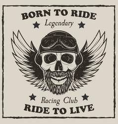 vintage motorcycle t-shirt grunge vector image