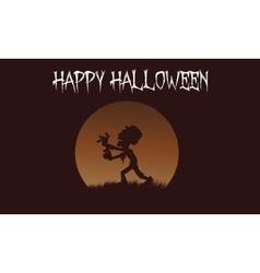 Zombie backgrounds halloween vector