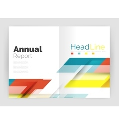 Motion concept business annual report cover vector