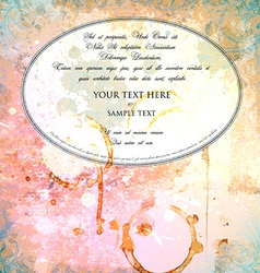 Rustic Wedding Invitation vector image