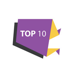 Top10 text in label purple yellow black vector