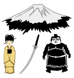 japanese motives vector image