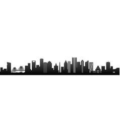 Houston black silhouette skyscrapers vector
