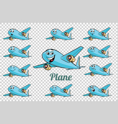 Airplane plane airliner aviation emotions vector