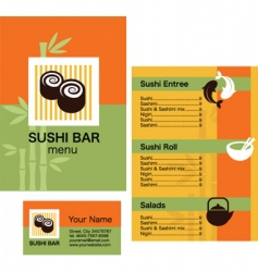 Sushi bar menu vector