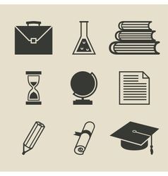 Education icons set - vector