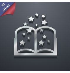 Magic book icon symbol 3d style trendy modern vector