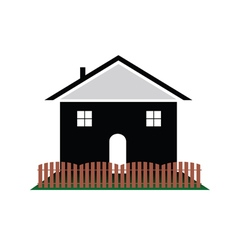 House with color art vector