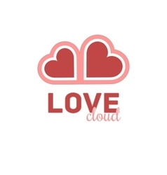 Heart cloud symbol logo icon design template vector