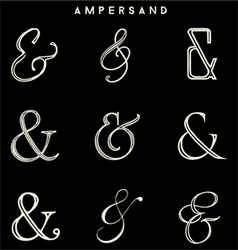 Ampersand collections vector
