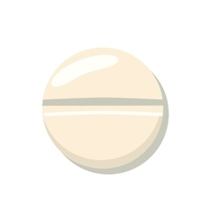 Pill icon cartoon style vector