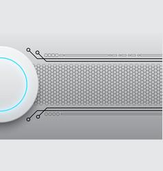 Abstract modern white circle button technology vector