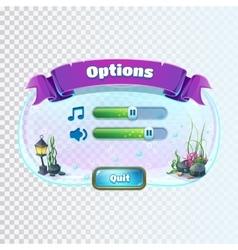 Atlantis ruins - volume options window vector