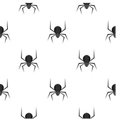 Black spider pattern seamless vector