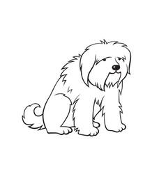 Cartoon dog vector