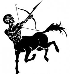 centaur illustration vector image vector image