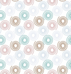 colorful dot circle pattern background vector image vector image