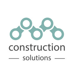 construction company logo universal template vector image