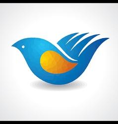 Creative idea - hand make a bird vector
