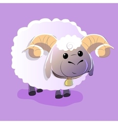 Cute lamb on isolated background vector