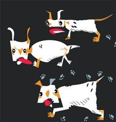 Dogs running vector