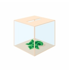Donation box icon cartoon style vector