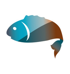 fish sea animal symbol vector image