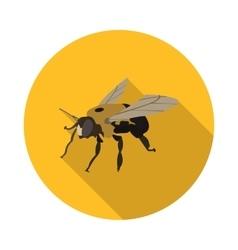 Flat icon bee carpenter vector