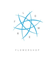 Floral logo template for Flower shop Beauty salon vector image vector image