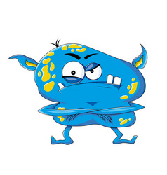 Funny evil monster vector