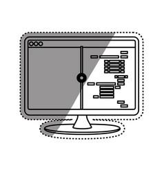 html programming code vector image vector image