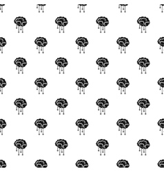 Human brain with sensors pattern simple style vector