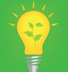 Lightbulb and environmnet vector