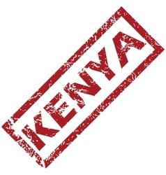 New kenya rubber stamp vector