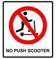 No scooters allowed symbol prohibition vector image