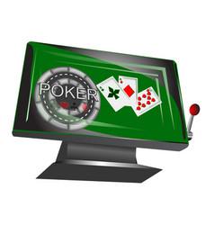 Online gambling symbol vector