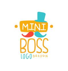 Original mini boss logo design with abstract vector