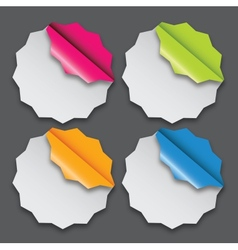 Paper labels with different corner and place for vector image