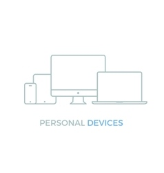 Personal Electronic Devices vector image