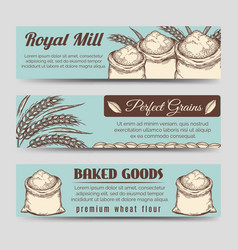 premium mill product banners template vector image