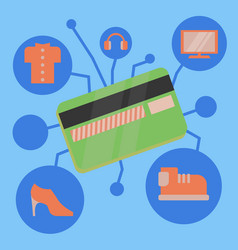 sales picture bank credit card for purchases vector image