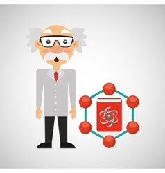 scientist chemistry concept atom design vector image vector image