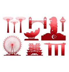 Singapore Icon vector image vector image