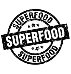 Superfood round grunge black stamp vector