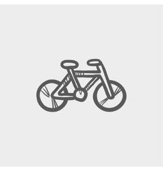 Vintage bicycle sketch icon vector image
